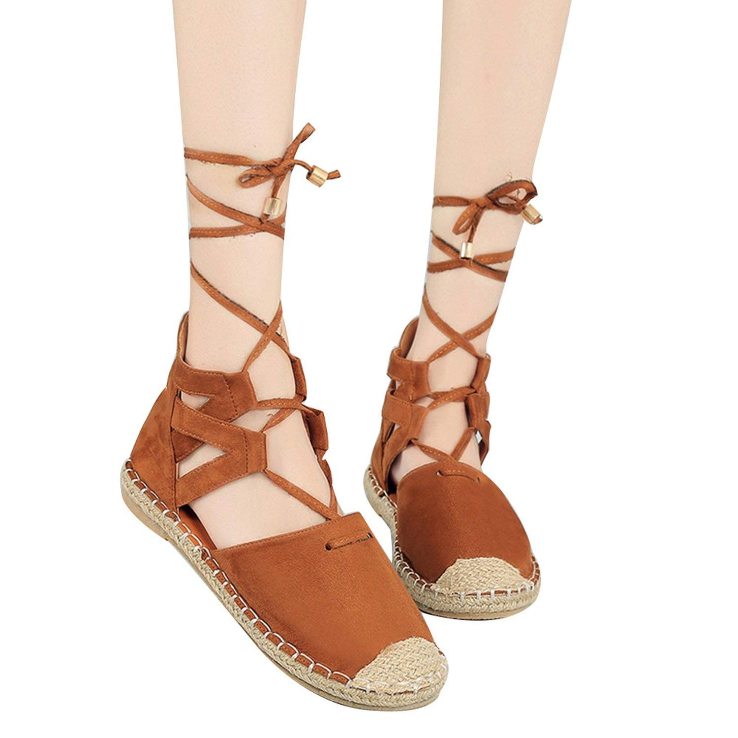 5619268fa17e Cool Cj Zapatos Mujer Ladies Bandage Sandals Women Flock Ankle Strap Lace  up Shoes Female Beach
