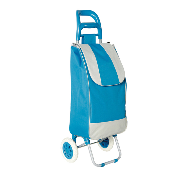 Light weight Wheeled Shopping Trolley Bag - Heavy Duty Collapsible Rolling Cart