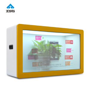 Luxury see through led box flexible Video Advertising Box Advertisement transparent show case lcd display