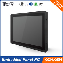 21.5' Wide Embedded Industrial Panel Computer 5 Wire Resistive Touch Screen IP65 3mm Super Thin Bezel Front Panel