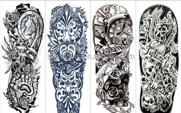 Completo tatuaje pegatinas grandes flores hombro falso - Mangas de tattoo ...