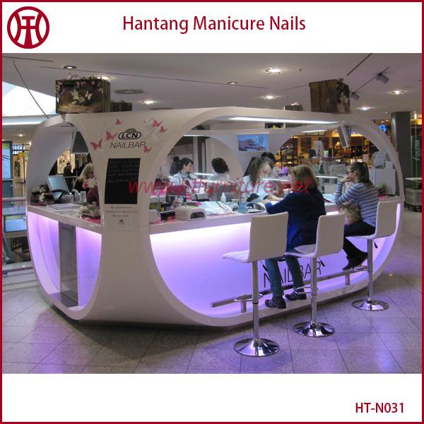 Attractive Laka Nail Salon Tables With Display Area/ Nail Kiosk ...