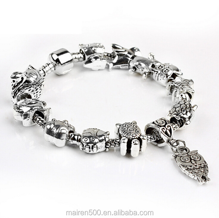 PDR158 fashion wholesale loose glass beads fit europen bracelet for women&kids