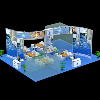 Exhibition Stall Reception : Trade show display with reception desk for exhibition stall design