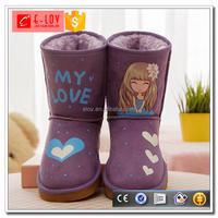 Latest fashion kids winter shoes comfort women boots winter U909P
