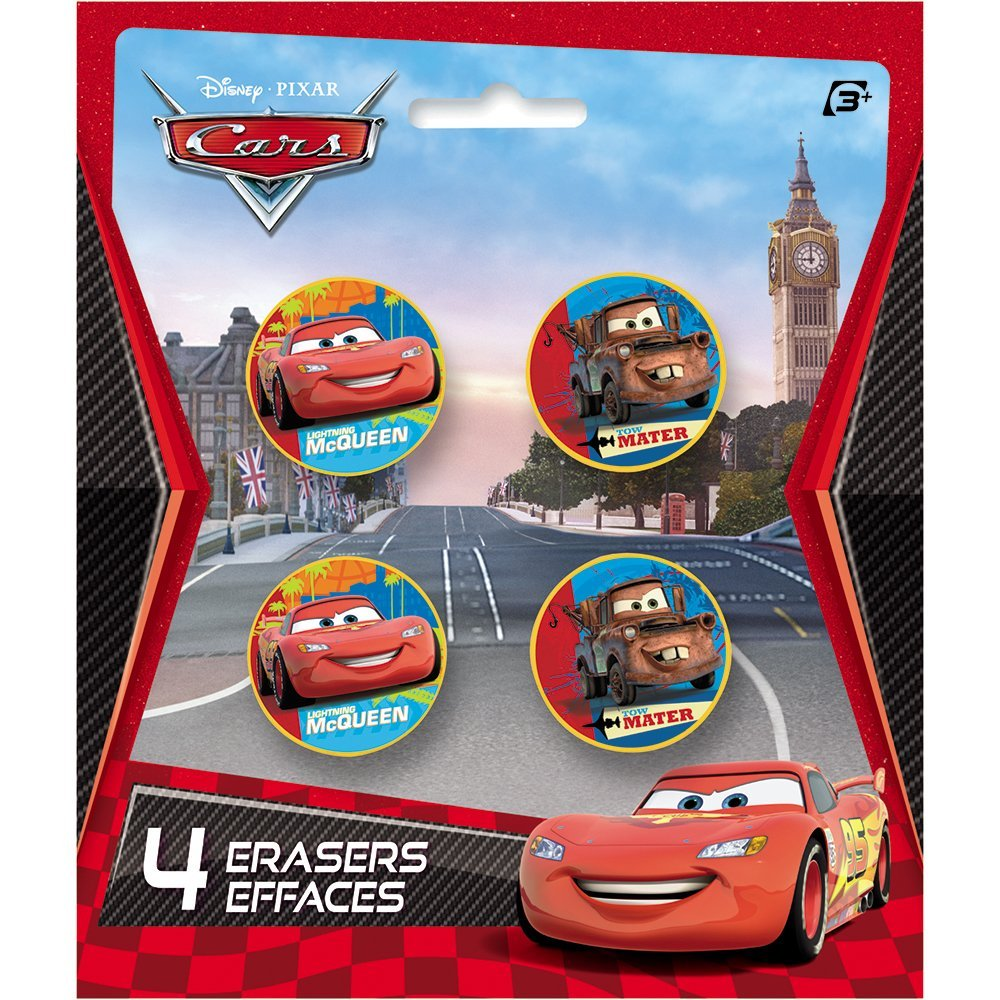 Disney Cars Eraser Party Favors, 4ct