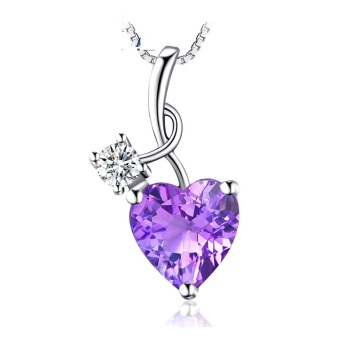 1.58g Tryme Jewelry new product 2017 Fashion jewelry Silver Purple Heart Pendant charm pendant anatomical heart pendant