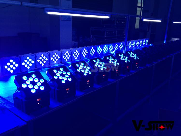 battery led par can 12x18w wireless led uplights RGBWA UV wireless battery powered Disco DJ Par Light