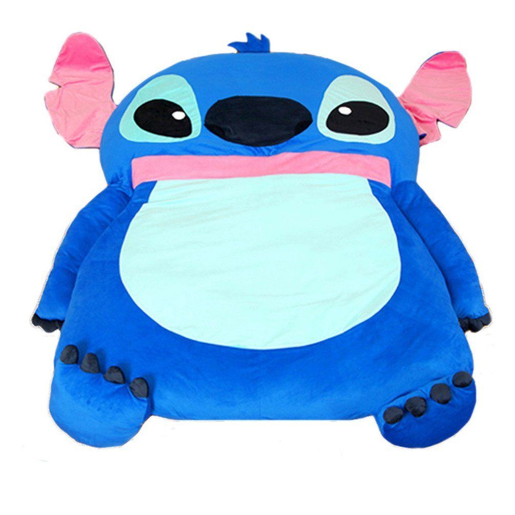 Blue Stitch Bed Cartoon Character Queen Bed Mattress Sleeping Bag Pad Sofa 79 Inches