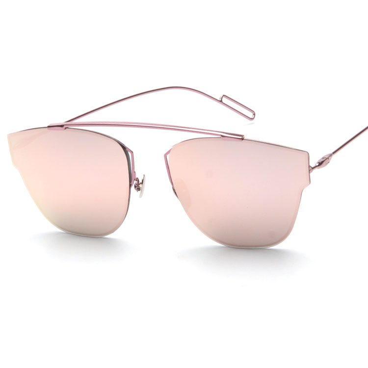390da41dc55 Top Quality New Vintage Cat Eye Rimless Sunglasses Women Flat Top ...