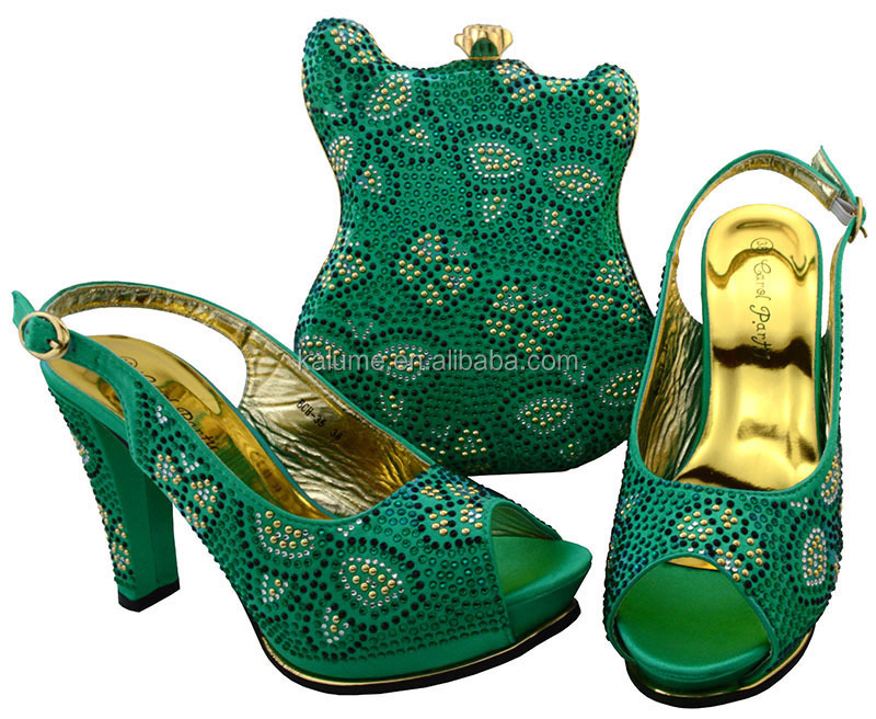 Decorated In Rhinestone Shoes BCH Nigerian Matching Italy Women With Bag Bag Shoes Italian Set Set Shoes 2017 and 35 Newest and U46C1qXU
