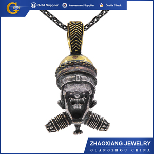 2018 New Style Fashion Jewelry Old Color Skull Silver Pendent For Man or woman