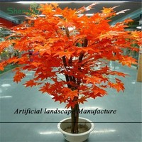 SJZJN 2362 Artificial Red Maple Tree,Cheap Artificial Tree,Decorative Artificial Maple Bonsai Tree