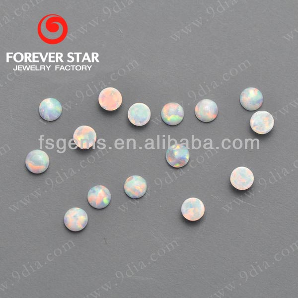 2GC03001A Hot Sale Product Round Double Cabochon Cut 3mm Created Opal Factory Price