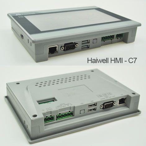 7inch Haiwell HMI C7 Human machine interface with Ethernet port