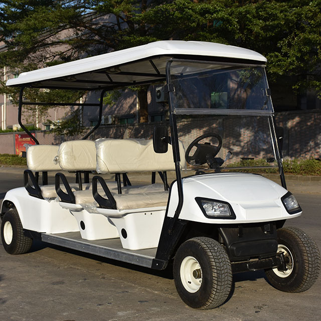 Battery operated golf carts electric sightseeing 6 seater golf buggy