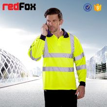 high visibility safety long sleeve button polo t shirt