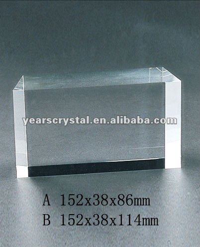 Pure crystal glass cubes with engraved for crystal trophy and award (R-0276)