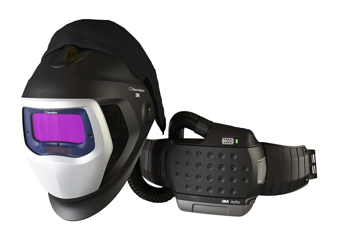 3M 35-1101-20SW Powered Air Purifying Respirator High Efficiency System with 3M Speedglas Welding Helmet 9100-Air, Lithium Ion Battery, Side Windows and Auto-Darkening Filter 9100X, Shades 5, 8-13