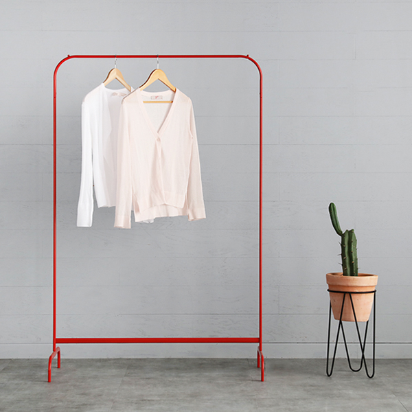 Heavy Duty Rail Portable Clothes Hanger Garment Rack