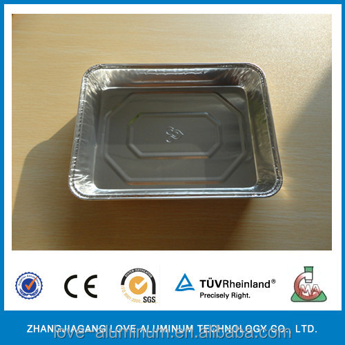 Home pack aluminum food container with plastic lid