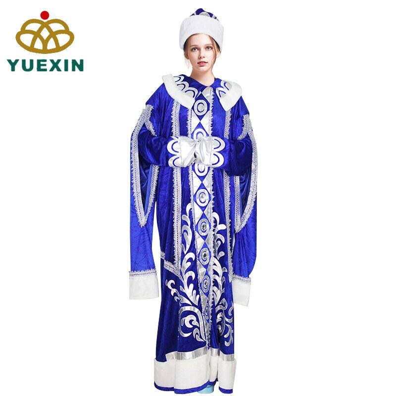 高品質アダルトフェスティバルコスプレクリスマスロシアサンタクロース衣装