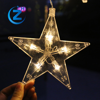 waterproof icicle meteor fairy linhai lighting star shape battery operated decorative led christmas light curtain for