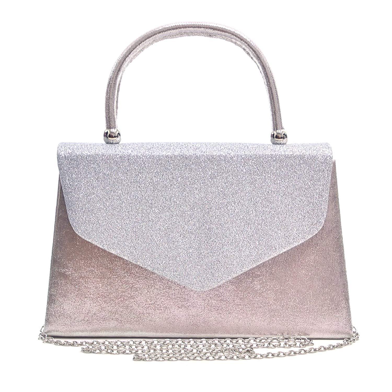 Get Quotations · Envelope Clutch Handbag Evening Bag Top Handle Purse  Glitter Sequin Prom 05327e16f2274
