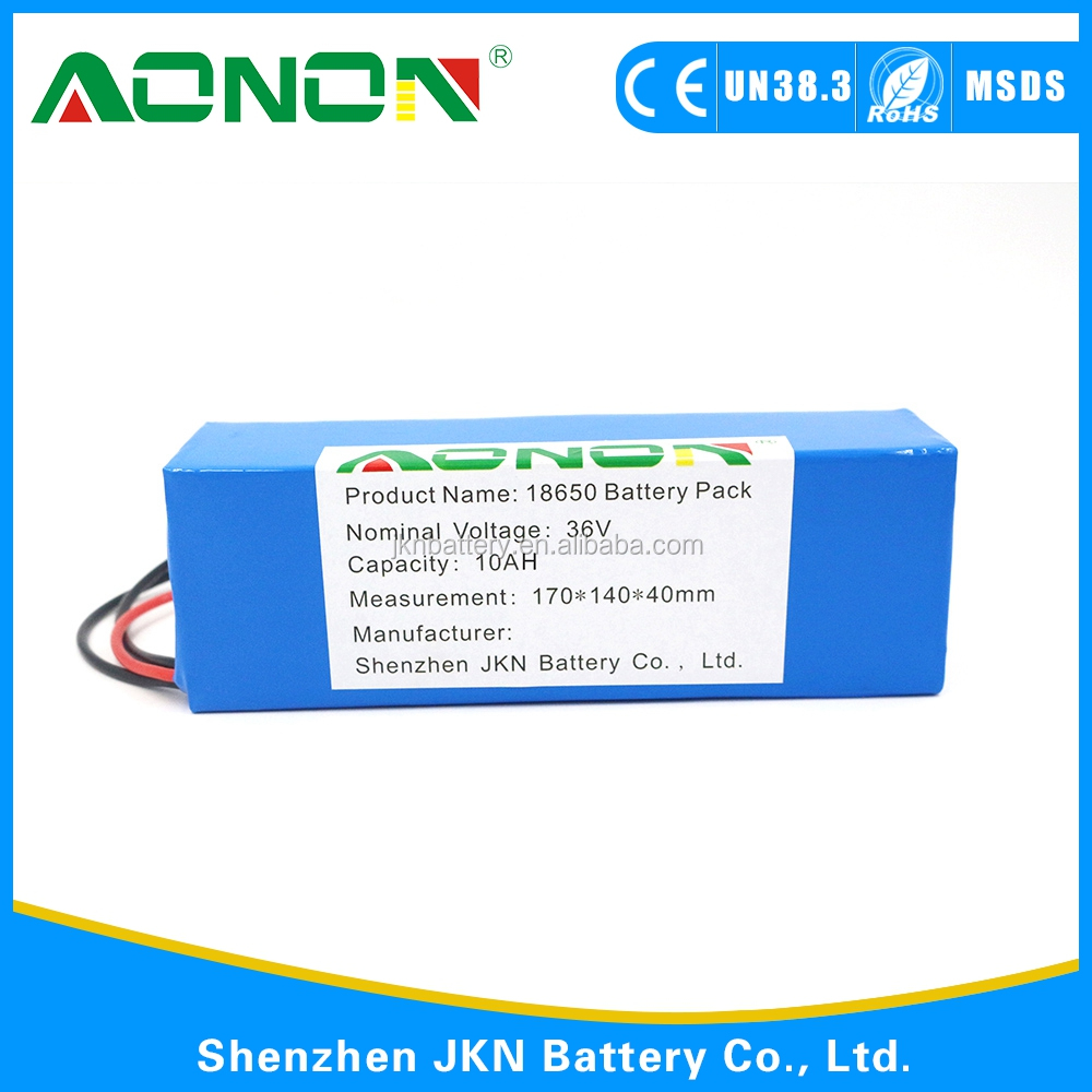 CE ,ROHS ,UL Approved Electric Batteries Pack 36V 10Ah 12Ah 15Ah 20Ah