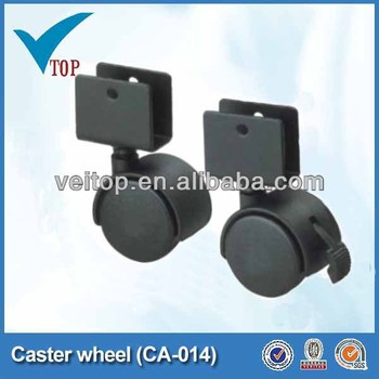 Small Furniture Roller Casters Plastic Double Wheel
