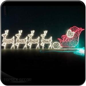 8a581149ee Santa In Sleigh With Reindeer