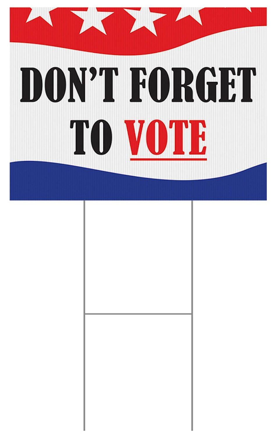 Custom Product Solutions 18 x 24 Inches Full Color Yard Sign, Don't Forget to Vote, Red/White/Blue (ZYS02IAQ)