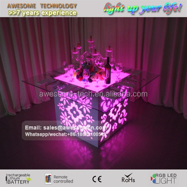 led glow Innovative Luxury Catering table for event wedding buffet