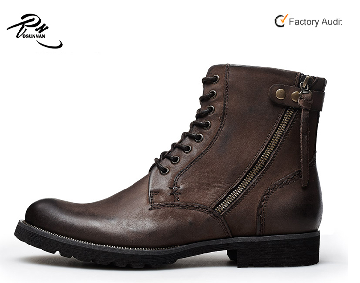 High class newest design top sell cool men classy leather cowboy boots