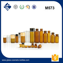 5ml/10ml/20ml cosmetic glass tube bottle glass vial with rubber stopper/PVC dropper/ aluminium cap