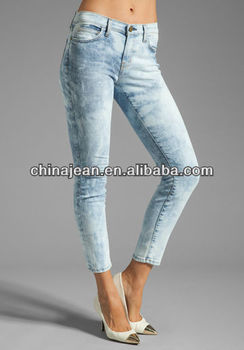 Mature in tight jeans