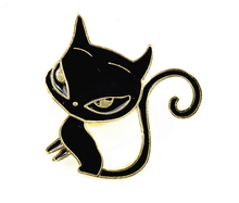 Enamel Lapel Pin Badge Manufactures cats shape badge pin for halloween
