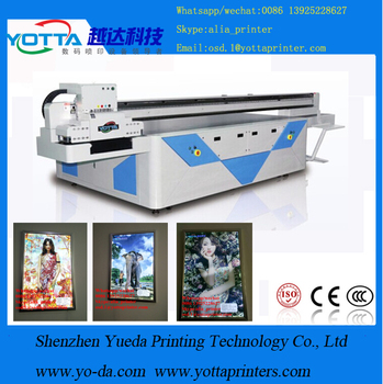 Newest UV Printing Wood\Glass\Metal Flatbed Printer wooden photo frame uv printer