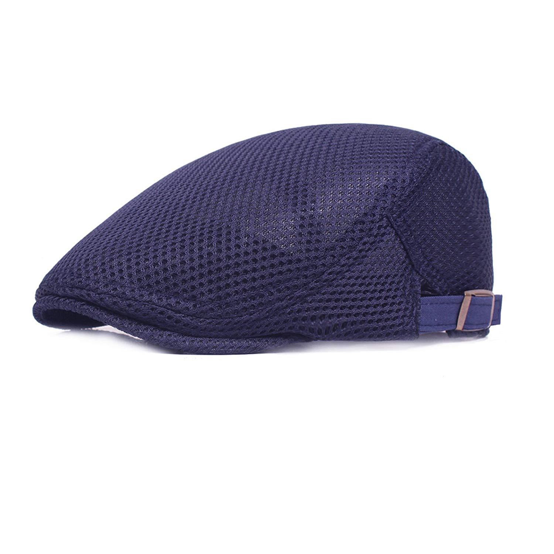 ee84f3ba41f0c Get Quotations · Newsboy Beret Ivy Cap Gatsby Flat Cap Men Breathable Mesh  Summer Hat