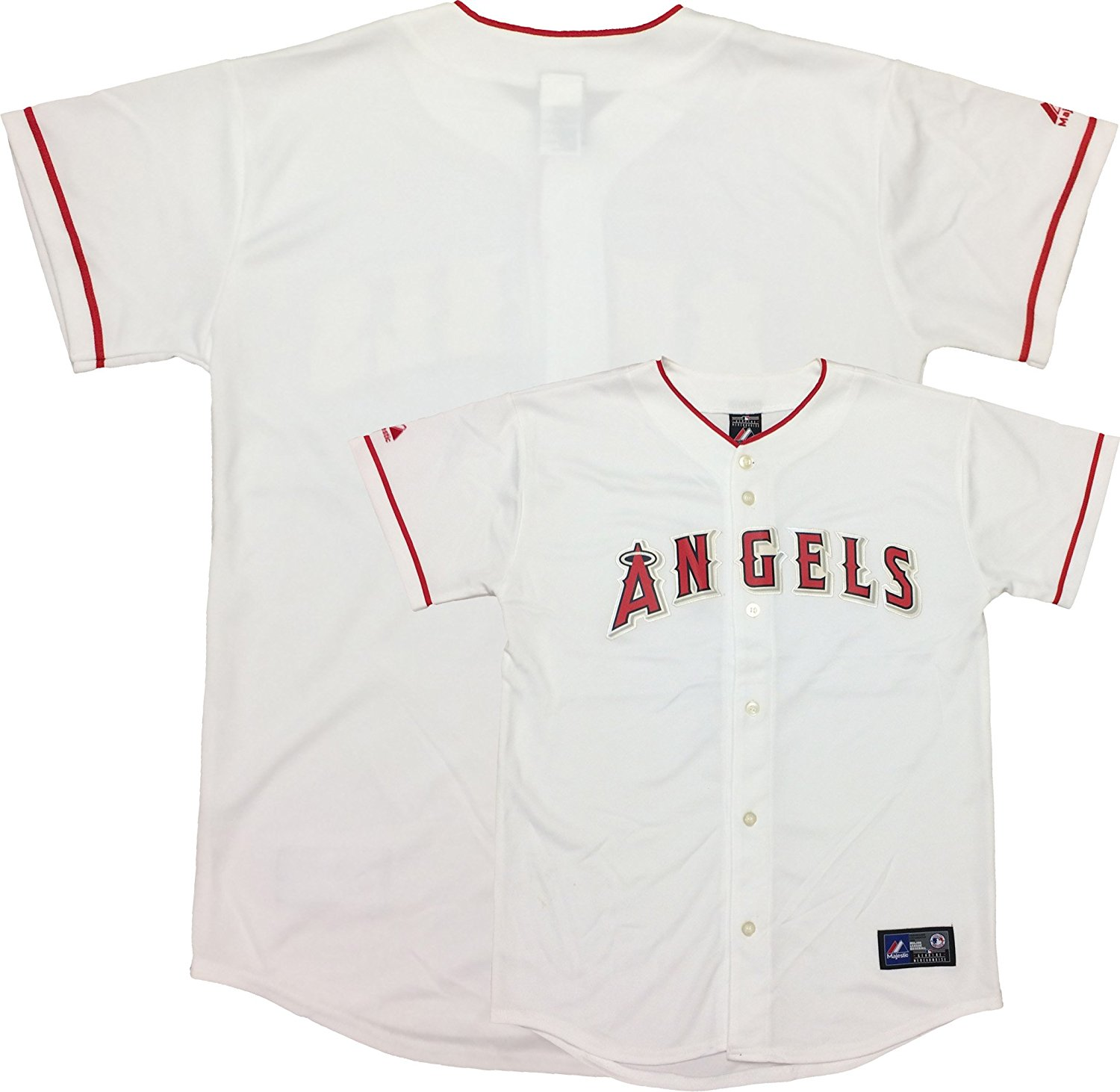 060d14a87 Get Quotations · Los Angeles Angels Word Mark White Youth Authentic Home  Replica Jersey