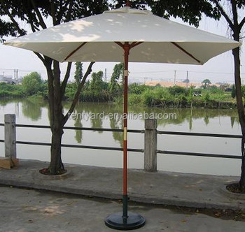 Lovely White Color Outdoor Patio Umbrellas Rectangular Outdoor Grass Beach Umbrella