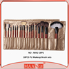 MAANGE orginal Professional makeup brush set gold PU bag 18 piece cosmetic brushes for 2015 holloween