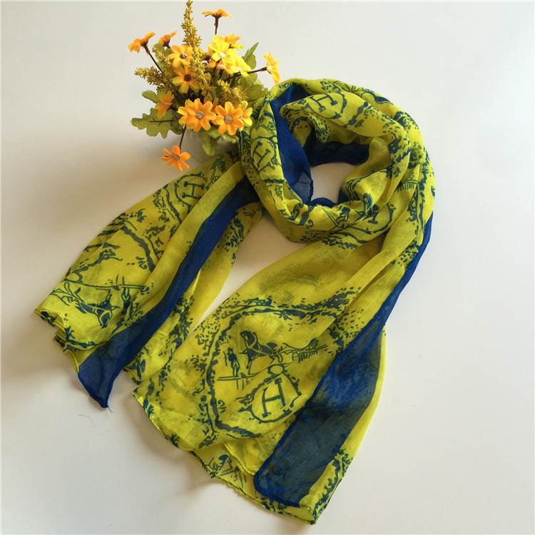 New promotional fashion scarf office ladies vicose and polyester scarf