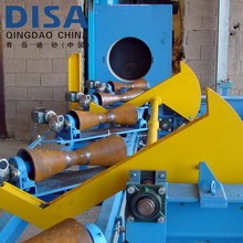 Steel cylinders and fire extinguishers shot blasting machine