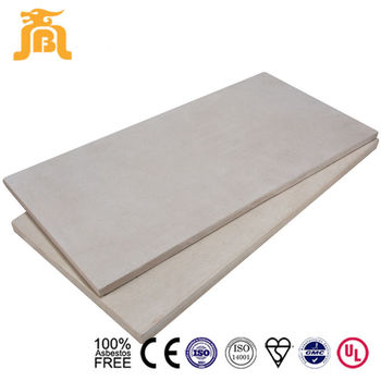 High Strength Fireproof 20mm Cement Backer Board Flooring with Grey Back