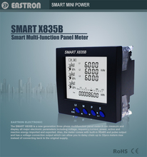 High-quality SMART X835 Three Phase Panel Mounted Multifunction RS485 Modbus power Meter 96*96mm , power meter