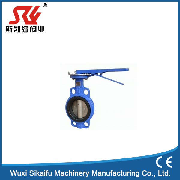 Professional supplier wafer butterfly valve with universal flange (pinless)dn50