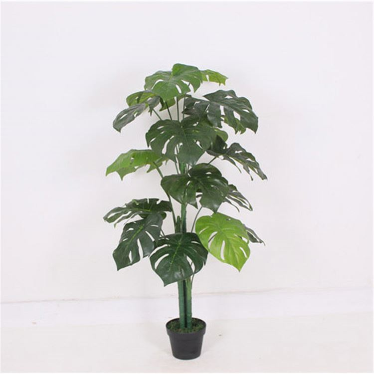 New arrival superior quality bright green artificial taro tree with leaves