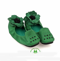 newest top quality green designer ladies flat toe shoes paypal dropship OEM