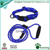 Dog Mountain Climbing Rope Collar And Lead Set, Adjustable Dog Collar Running Leash With Padded Handle